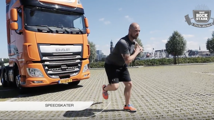 Speedskater DAF Bockstark das Trucker Workout